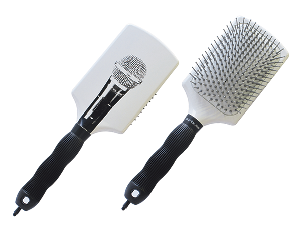 Microphone Paddle Brush White
